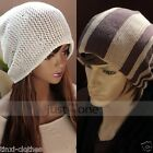 Casual Winter Unisex Mens Womens Oversize reversible Knit Baggy Beanie Hat Cap