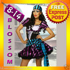 G9 Ladies Mystical Gypsy Circus Fortune Teller Fancy Dress Halloween Costume