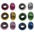 2 x Resin Large Rondelle Bead With 10mm Hole, Crackle Print, 23x14mm