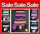 ※099※4-7 Ladies /Teens KNITTED Thick 5 TOE Winter Wellies Boots Long Socks