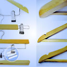 HIGH QUALITY* ADULT WOODEN COAT/ CLOTHES/ TROUSER/ SKIRT HANGER WTH/ WITHOUT PEG