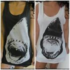 **Unisex Jaws Shark Vest** Tank Top Singlet T-Shirt Dress **Sizes S M L XL**