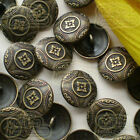 Vintage Symbol Floral 20mm  Metal Buttons Sewing Collectable Craft MB006