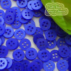 Blue 4 Holes 11mm Shirt Plastic Buttons Sewing Craft 4SB