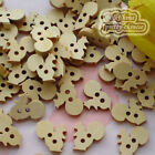 Squirrel 20mm Wood Buttons Sewing Scrapbooking Craft NCB029