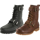 Polo Ralph Lauren Mens Radbourne Black Tan Brown Fashion Winter Leather Boots