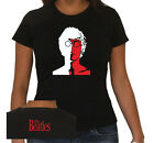 T-SHIRT DONNA BEATLES 7 STAMPA BIANCO ROSSO by SamyShop