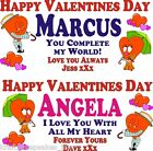 Valentines Day Personalised Banner Poster Any Text Various Sizes For him or her