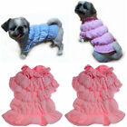Small to Large dog puppy warm winter coat clothes top jacket pink new