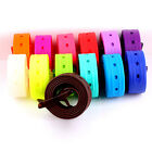 Unisex Womens Mens Silicone Rubber Waistband Belt Buckle Strap Neon Candy Colour