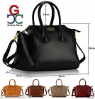 New Ladies Womens Designer Style Leather Tote Shopper Bag Celebrity Handbag