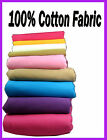 Plain Solid Poplin 100% Pure Cotton Dress Craft Lining Fabric Clothing Textile