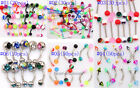 Wholesale 316L-UV Lip Tongue Eyebrow Piercing Barbell Body Jewelry InMixed Color