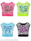 JUSTICE For Girls ~ Sequin Boxy Crop Top Tee ~ Size 14 ~ U Pick Color ~ NEW
