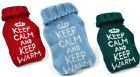Keep Calm Keep Warm Heat Pack | Camping/Reusable/Hot Water Bottle/Knitted Cover