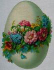 """Needlepoint canvas """"Easter egg and spring flowers"""""""