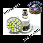E14 24 SMD DIMMABLE WARM or DAY WHITE REPLACES 50 W HALOGEN BULBS