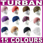 Full Head Turban Headwrap head wrap Indian style hat hair loss chemo badnana NEW