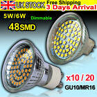 10/20 X 5W 6W 48 SMD GU10 MR16 LED Dimmable Non-dimmable Bulb Light Bulbs Lamp