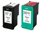 2 HP 337 & 343 Printer Ink Cartridges C9364EE / C8766EE