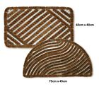 Bradfield Heavy Duty Coir Door Mat Traditional Outdoor Mud Shifter Boot Scraper