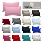 Plain Dyed Polycotton Housewife Pillowcase Pair Pack Beautiful Colours 50 x 75cm