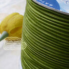 "3mm 1/8"" Olive Velvet Ribbons Craft Sewing Trimming Scrapbooking #153"