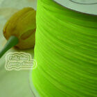 "3mm 1/8"" Fluo Green Velvet Ribbons Craft Sewing Trimming Scrapbooking #26"
