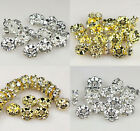 100pcs 4mm,6mm,8mm,10mm Rondelle Wave rhinestone crystal spacer beads Grade A