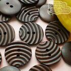 Ripple 2 Hole 25mm Wood Buttons Sewing Scrapbooking Craft C004