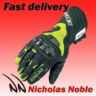 SPADA ENFORCER HiViz Yellow WATERPROOF LEATHER BIKE GLOVE