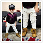 Boutique White Cargo Denim Pants Great Cutting Very Handsome Unisex NWT