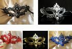 Bling LASER CUT Venetian Gothic Masquerade Costume Party Prom Eye Masks 5 Colors
