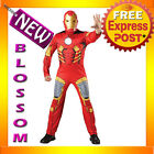 C684 Mens Iron Man Avengers EVA Muscle Chest + Mask Halloween Adult Costume