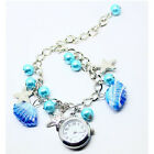 Women Jewelry Beads Shell Chain Bracelet Lady Quartz Watch Heart Starfish Flower