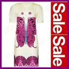 ※022※New 7-13Y =  Girls SUPER SOFT Knit Butterfly Print Dress Long Line Top