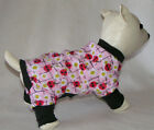 Pink Lady Bug DOG PJS 4 leg Flannel Pajamas pet apparel TC XXS XS S S/M M