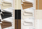 WOODEN VENETIAN BLINDS WITH TAPES REAL WOOD MADE TO MEASURE 35MM 50MM CHILD SAFE