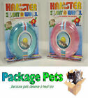 SILENT HAMSTER EXERCISE WHEEL IN BLUE, GREEN AND PINK - 13CM NEW