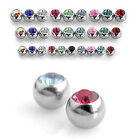Spare / Replacement Crystal Balls - Belly / Nipple / Tongue / Barbells - 1.6mm