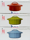 Isaac Mazrahi Bella Chic 6 Qt Oval Covered Cast Iron Dutch Oven Multiple Colors
