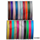 "25m Full Roll woven edged Grosgrain Ribbon - 10mm (3/8"") width - Various Colours"