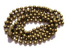"Necklace Ball Chain 2.4mm  Antiqued Brass Gold Bronze ptd 16"" to 28"" 1 or 5 Qty"