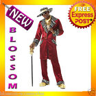 C294 Men Pimp Sweet Daddy Beaujolais Burgundy Adult Fancy Halloween Costume