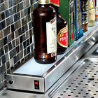 Glastender Lighted Liquor Bottle Display Rail - Commercial Bar Pub Decor Shelves
