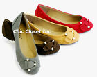 Women NEW Ballet Low Flats Fux Suede Buckle Round Toe Causal Walking Shoes Big