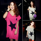 Sweet Women Casual Five-pointed Stars Loose Short Sleeve Summer Tee T-shirt Tops