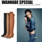 Fashion Women BOOTS LOW HEEL Side zip Over Knee Comfort lady Shoes AU Sizes H31