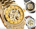 42mm Mens Sewor Hollow Skeleton Automatic Mechanical Analog Wrist Watch,PU/Steel