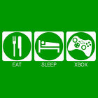 Eat, Sleep, Xbox T-Shirt. Video Games. Funny Adult T-Shirts. B-Shirts.